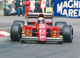 Alain Prost driving the 642 at the 1991 Monaco Grand Prix.