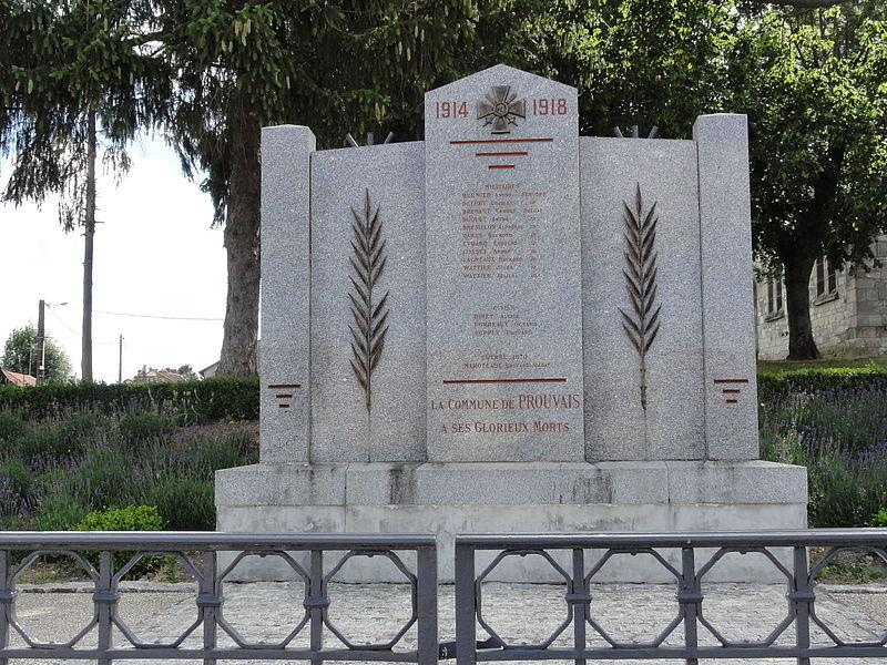 Prouvais (Aisne) monument aux morts