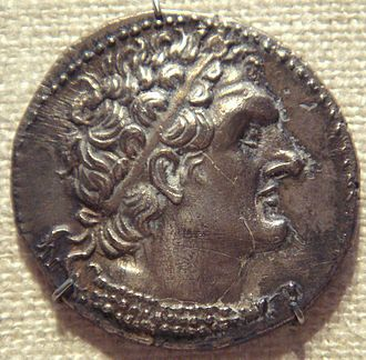 Ptolemy VI Philometor - Coin of Ptolemy VI, depicting his great-great-great grandfather Ptolemy I