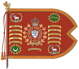 The Queen's York Rangers (1st American Regiment) (RCAC) - Image: QY Rang colours