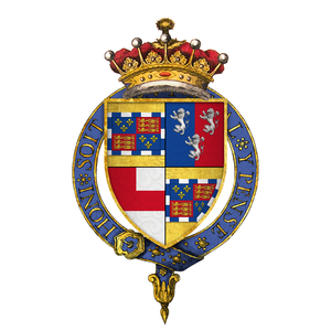 William Somerset, 3rd Earl of Worcester - Quartered arms of Sir William Somerset, 3rd Earl of Worcester, KG