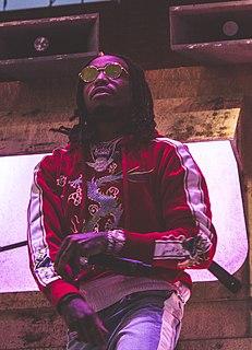 Quavo American rapper from Georgia; 1/3 of Migos