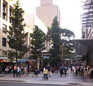 Queen Street Mall, Brisbane - Edward Street entrance to the mall