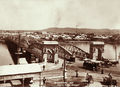 Queensland State Archives 2274 Victoria Bridge from Treasury Building towards South Brisbane and Mt Coottha Brisbane 1897.png