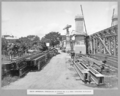 Queensland State Archives 3454 South approach steelwork of spans 5 6 and 7 stacked alongside runway Brisbane 1 March 1937.png