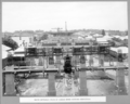 Queensland State Archives 3716 South approach piers of girder spans nearing completion Brisbane 18 November 1936.png