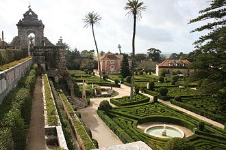 Oeiras, Portugal - The French-inspired gardens of the Royal Palace of Caxias, used by the Royal Family