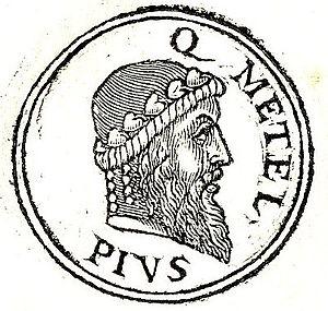 Quintus Caecilius Metellus Pius - Quintus Metellus from Guillaume Rouillé's Promptuarii Iconum Insigniorum