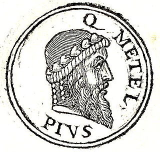 Quintus Caecilius Metellus Pius Ancient Roman consul, general and statesman. A leader of the Optimates