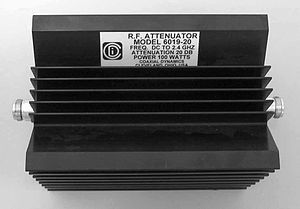 Attenuator (electronics) - 100 Watt power attenuator