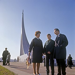 Monument to the Conquerors of Space Monument in Moscow, Russia