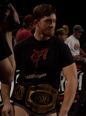 Kyle O'Reilly - O'Reilly as ROH World Tag Team Champion in September 2013