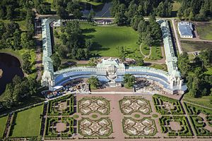 Oranienbaum, Russia - Aerial view of the Grand Menshikov Palace