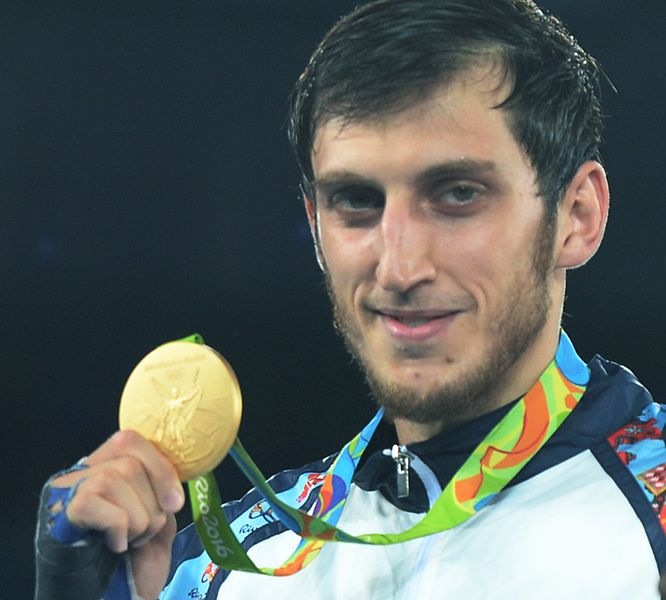 File:Radik Isaev at the 2016 Summer Olympics awarding ceremony 3.jpg