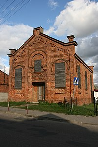 Radzanów - synagoga 03; Kot.JPG