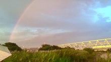 Datei:Rainbow - Tokyo - Arakawa-Fluss - 11. Juli 2021.ogg
