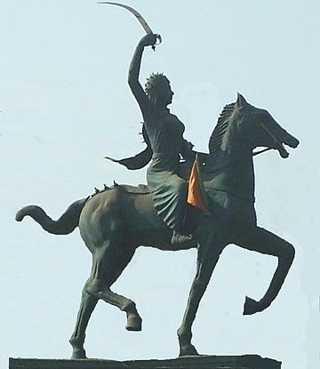 Statue of Rani Laxmi Bai in Agra - Indian Rebellion of 1857