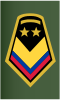 Rank insignia of sargento mayor de comando conjunto of the Colombian Army.svg