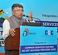 Ravi Shankar Prasad addressing at the inauguration of a Workshop for Common Service Centres (CSC) to enable them to smoothly roll-out GST services, in New Delhi.jpg