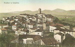 Gradišče nad Prvačino - 1910 postcard of Gradišče nad Prvačino