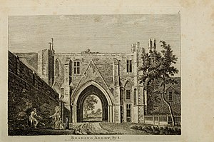 Timeline of Reading, Berkshire - Reading Abbey gateway (in 1785)