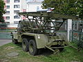 Rear view of a BM-13-16 on a ZiS-151 chassis in a military museum in Belarus 2.jpg