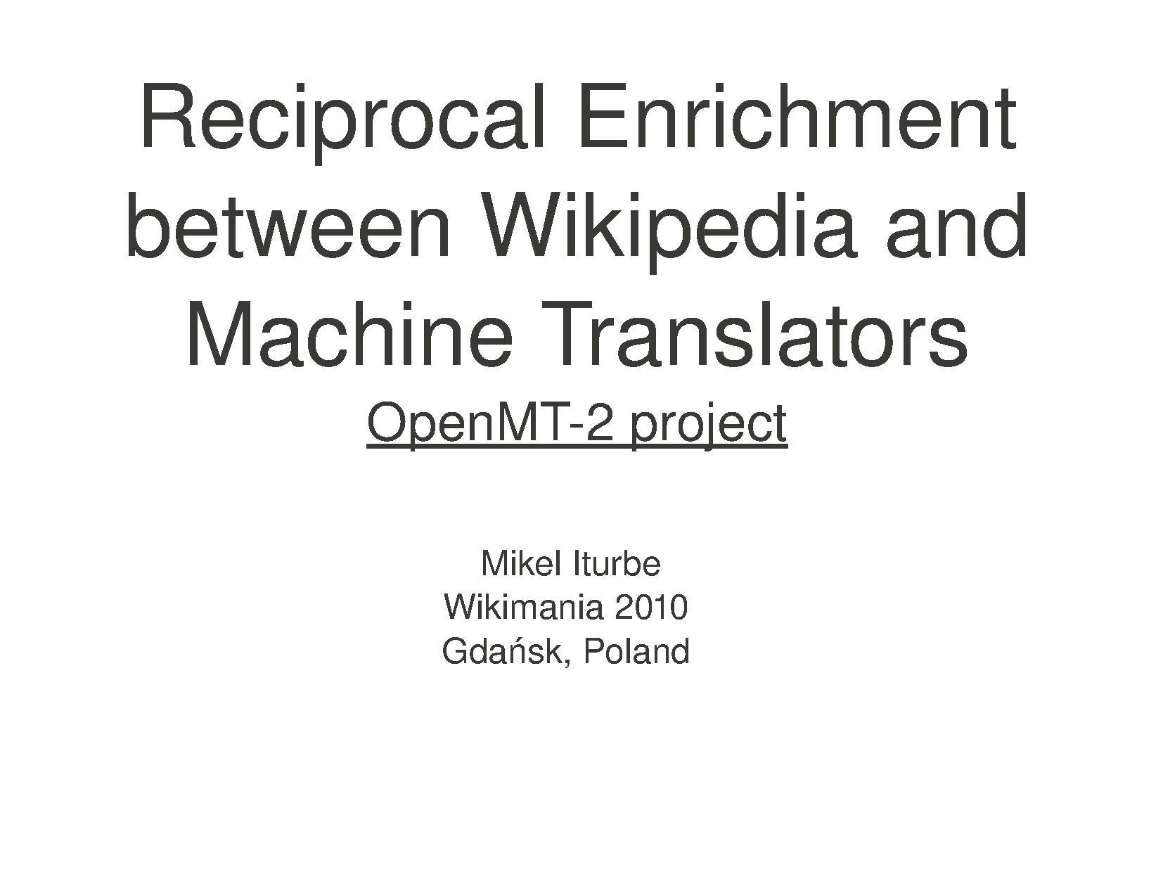 Reciprocal Enrichment between Wikipedia and Machine Translators.pdf