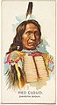 Red Cloud, Dakota Sioux, from the American Indian Chiefs series (N2) for Allen & Ginter Cigarettes Brands MET DP828027.jpg