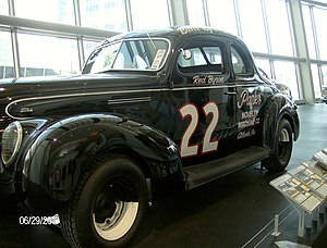 Red Byron - Red Byron's car  displayed in the NASCAR Hall of Fame.
