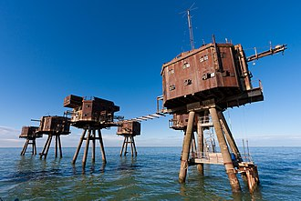 Maunsell Forts - Red Sands, 2013