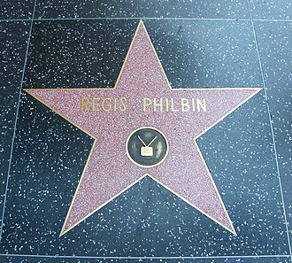 Regis Philbin - Regis Philbin's star at the Hollywood Walk of Fame