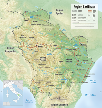 italien basilikata landkarte Basilikata – Wikipedia