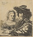 Rembrandt and his Wife (copy) MET DP814515.jpg