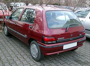 Renault Clio - Rear view of the Clio