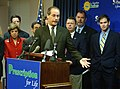 Rep. Dan Gelber makes a point in a news conference about the Prescription Drugs for Seniors Bill.jpg
