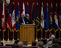 Retired Gen. Gordon Sullivan, former Army chief of staff, speaks with Soldiers at the Zone 1 Chapel March 23, 2013, about his experiences with change while in the Army, at Camp Arifjan, Kuwait 130323-A-CH544-041.jpg