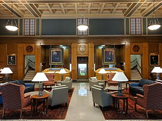 University of Rochester - The Great Hall of Rush Rhees Library.