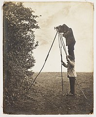 Richard and Cherry Kearton taking a photograph of a birds nest (8386801860).jpg