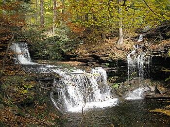R.B. Ricketts Falls (36 feet (11.0 m) tall) on...