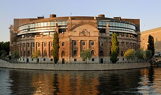 Parliament House, Stockholm - West view of the Riksdagshuset
