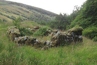 Rob Roy MacGregor - The remains of Rob Roy MacGregor's house in upper Glen Shira
