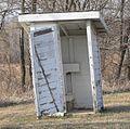 Rock Bluff School outhouse 1.JPG