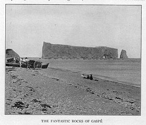 Gaspé Peninsula - Image: Rocks of Gaspé circa 1900 Project Gutenberg etext 20110