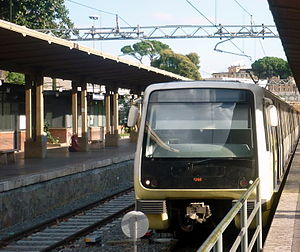 Rome–Lido railway - MA300 train at Roma Porta San Paolo