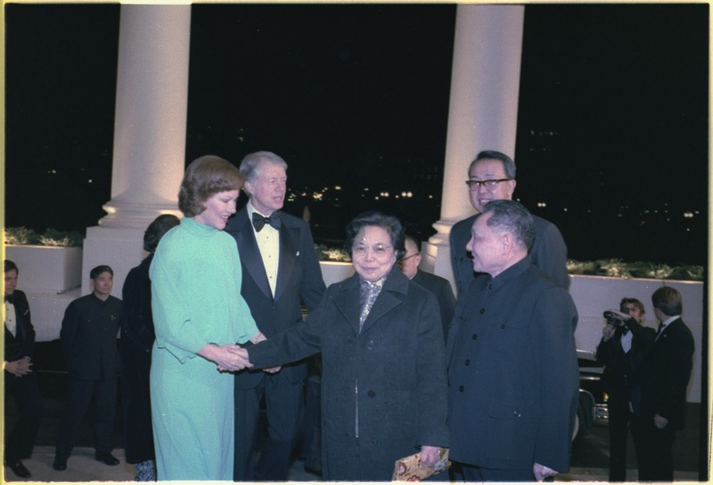 lossy-page1-800px-Rosalynn_Carter_and_Jimmy_Carter_greet_Madame_Zhuo_Lin_and_Deng_Xiaoping_at_the_White_House_for_a_state_dinner_in..._-_NARA_-_183216.tif.jpg
