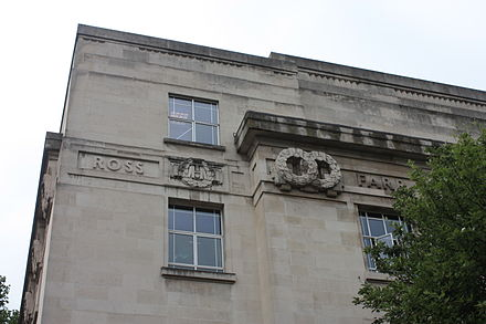Ross's name remembered on the London School of Hygiene and Tropical Medicine Ross's name remembered on the London School of Hygiene and Tropical Medicine.JPG