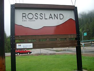 Rossland, British Columbia - Welcome for Rossland, British Columbia