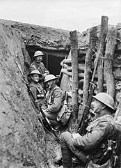 Royal Fusiliers in trench Macedonia 1917 IWM Q 32896.jpg