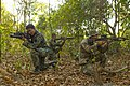 Royal Thai Marine Corps Petty Officer 2nd Class Poramet Panpach, left, Seaman Somchok Mangkou, center, both basic infantrymen with the 3rd Small Arms Company, 7th Battalion, 3rd Regiment, Marine Division 140212-M-OY715-155.jpg