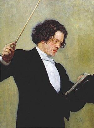 Anton Rubinstein - Portrait of Rubinstein by Ilya Repin
